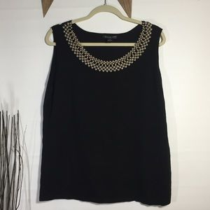 August Silk beaded neckline